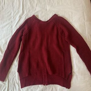 Knit top with zipper back